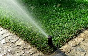 garden irrigation systems. Delighful Irrigation Garden Irrigation System Watering Lawn Stockfoto  15048018 Throughout Irrigation Systems