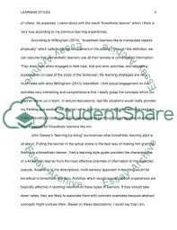 learning style essay example topics and well written essays  learning style essay example