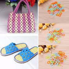 <b>100Pcs DIY</b> Crochet Ring Circle Hook Plastic Craft Tool for ...