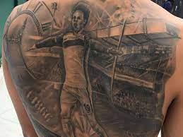 Kurios ist vor allem, welches tor sich sane für das tattoo ausgesucht hat. Leroy Sane Tattoo