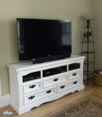 white dresser tv stand. Wonderful White Turning Old Dressers Into Brand New Media Stands Betterafternet On White Dresser Tv Stand