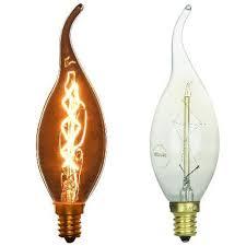 vintage style light bulb flame tip 25 watt 3 pack