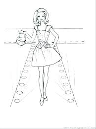 Barbie Fashion Show Coloring Pages Fashion Coloring Page Coloring