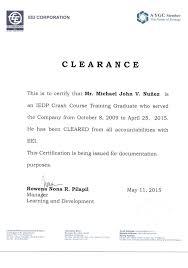 Clearance Certificate Sample Eei Clearance