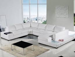Small Picture Modern White Leather Sectional Sofa with Headrests S3NET