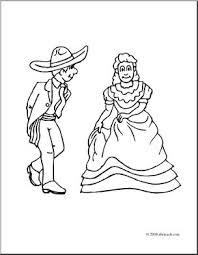 Cute diy printable cinco de mayo themed coloring pages! Clip Art Kids Cinco De Mayo Dancers Coloring Page I Abcteach Com Abcteach