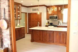 cherry kitchen cabinets custom home depot