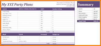 5 Event Planning Excel Template Free Business Opportunity Program