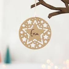 tree decoration star cutouts