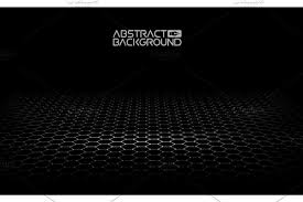 Black Hexagonal Background Vector Illustration Dark Background Vector Honeycomb Hexagon Black Color