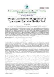 Special Purpose Machine Design Books Pdf Pdf Design Construction And Application Of Synchronous