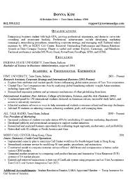Resume Examples In English For Job College Student Resume Example Business And Marketing