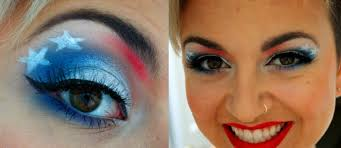 fourth of july makeup tutorial red white and blue and free