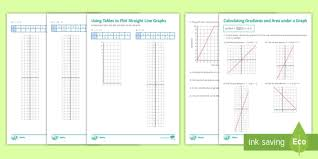 straight line graph and area under a