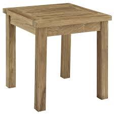 amazoncom modway marina outdoor patio teak side table natural