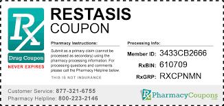 free couponrxpharmacy restasis offer