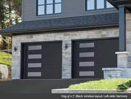 mid century modern garage door.  Mid Black Modern Garage Door With Windows Mid Century Doors Throughout S