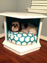 hexagon end table dog bed side