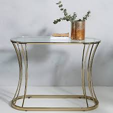gatsby glass gold furniture range console table