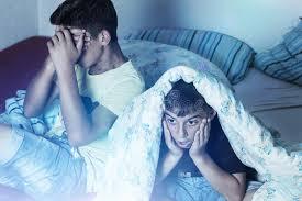 kids watching tv at night. download horrified kids watching tv stock photo. image of room - 47275440 at night