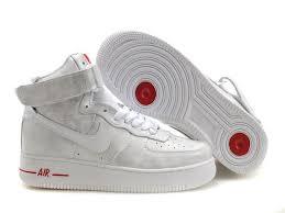 womens nike air force 1 white. Nike Air Force 1 Women\u0027s High Shoes - White Red Womens N