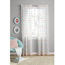 Your Zone Girls Pom Pom Bedroom Curtain - Walmart.com