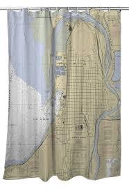 Wa Everett Wa Nautical Chart Shower Curtain Nautical