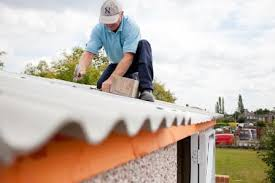 garage roof repair. tile effect plastic coated coloured steel sheets with condensation underlay metro roof various colours real concrete tiles garage repair