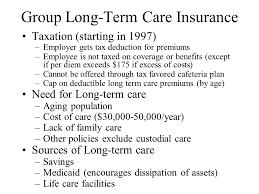 4 group long term care