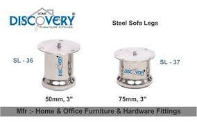 stainless steel modern silver sofa legs