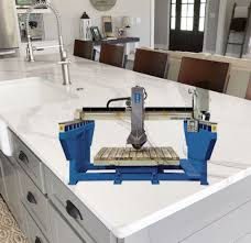 premier granite bridge saw cutting countertop with hydraulic table pictures photos