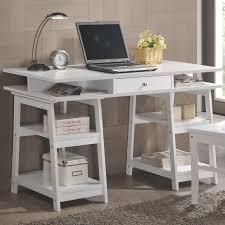 white wood writing desk set