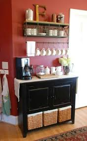 Love the decor and styling of this contemporary coffee station! Addicted To Coffee Check Out These 25 Ways To Make It The Centerpiece Of Your Home