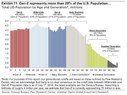 Age Generation Chart Goldman Sachs Chart Of The Generations And Gen Z Business
