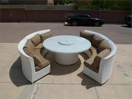 amazing outdoor dining sofa set jamaican wicker patio banquette sets room chairs