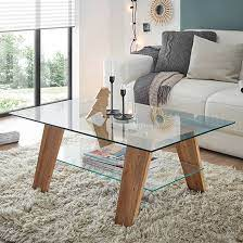 lublin clear glass coffee table with