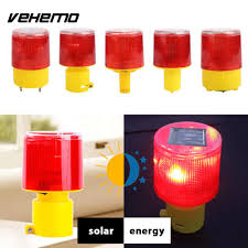 Solar Powered Red Led Lights Us 4 71 15 Off Vehemo Solar Powered Red Light Universal Durable Led Light Safety Work Beacon Traffic Alarm Lamp Tower Signal In Car Light Assembly