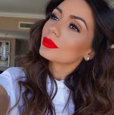 i love that you can get away with keeping the rest of your makeup super simple when you have an awesome bright red lip this look by makeupbylilit is