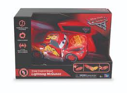 disney pixar cars 3 radio control car crazy crash and smash lightning mcqueen 2 4 ghz toys r us