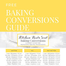 Baking Conversions From Cups To Grams For Baking Ingredients