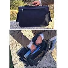 las black leather briefcase women messenger bag 5
