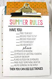 Printable Summer Rules Summer Summer Fun And Parents