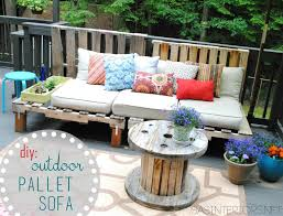 Furniture: Nice Diy Outdoor Patio Wooden Sectional Furniture Including  Square Metal Firepit And Traditional Moroccan