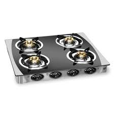 Gas Cooktop Glass Burner Gas Stove Cs 4gt Crystal Black
