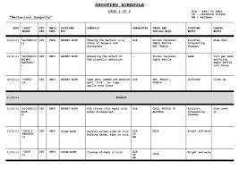 Shooting Schedule Sample Shooting Schedule Template 84 Schedule Templates