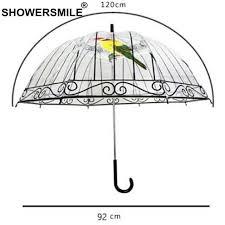 <b>SHOWERSMILE Transparent</b> Rain <b>Umbrella Clear See Through</b> ...