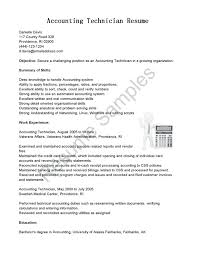 Outstanding Resume For Accounting Technician Photos Documentation