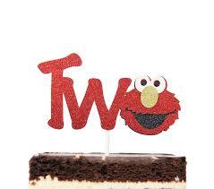 Elmo Inspired Two Birthday Cake Topper Decoration Sesame Street