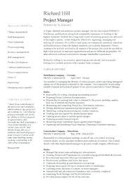 Project Management Resume Templates Stunning ☾ 48 Sample Resume For Project Manager Position