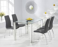 sophie 120cm glass dining table with cavello chairs